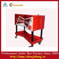 Beverage Cooler Cart,Rolling Patio Cooler Cart,Ice Cooler