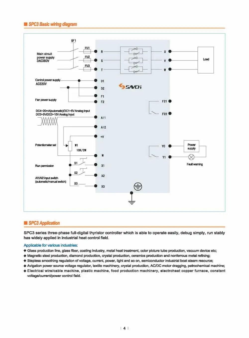 medium resolution of spc3 415v 480v 3 phase constant voltage ac thyristor scr power regulator for heater controller
