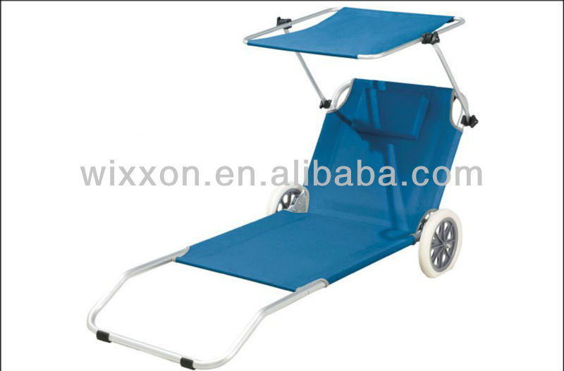 beach chair with wheels used power chairs for sale folding lounger sun shade pillow buy wheel