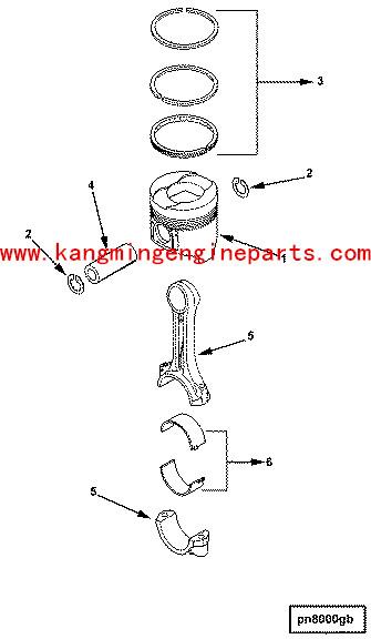 Usa C6205312200 Engine Piston Ring Set B3.3 Engine Spare