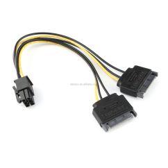 5 Pin Pci Express Adapter Led Autolamps Wiring Diagram 2x Sata 15 Stecker Auf 6 Poligen