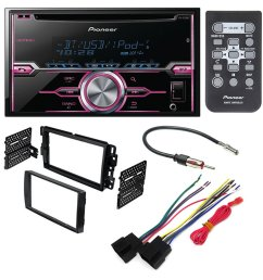 get quotations pioneer fh x720bt aftermarket car stereo dash installation kit w wiring harness antenna select [ 1000 x 1000 Pixel ]