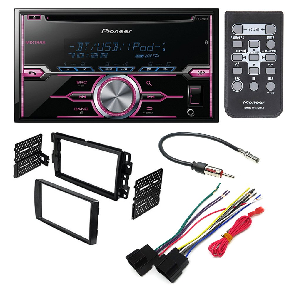hight resolution of get quotations pioneer fh x720bt aftermarket car stereo dash installation kit w wiring harness antenna select