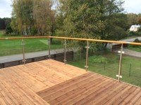 Indoor/outdoor Glass Railing,Exterior Stair Handrail