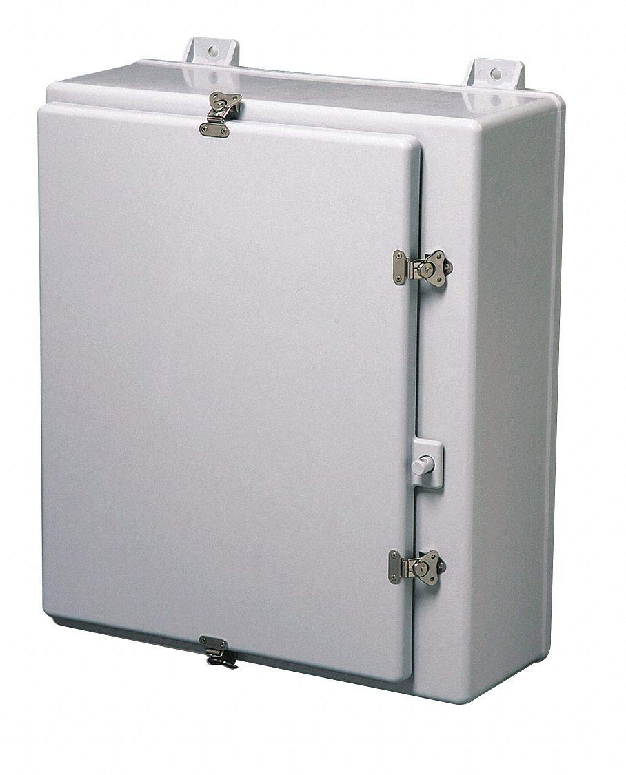 medium resolution of 36 h x 30 w x 10 d non metallic enclosure light gray knockouts no twist latch closure method