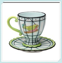 Design Ceramic Fancy Coffee Cups And Saucer - Buy Fancy ...