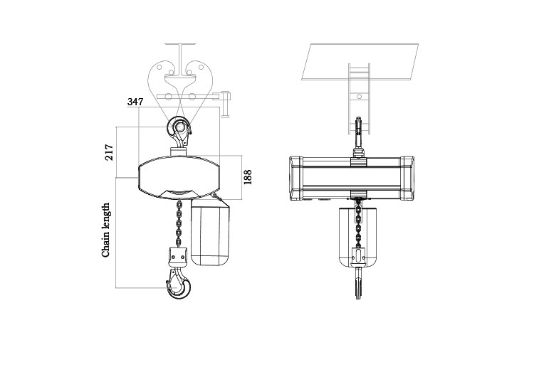 033 Ce Certificate 1ton Electric Chain Stage Hoist Mode V6