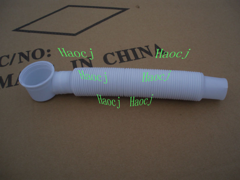 Bathtub Drain Cleaning Flexible Pipebathroom Flexible Drain Plastic Pipe For Sink Drain Hose