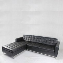 L Shaped Black Leather Sofa Set Friends Picture Umbrella Triumph Shape Modern Living Room Couch Lounge