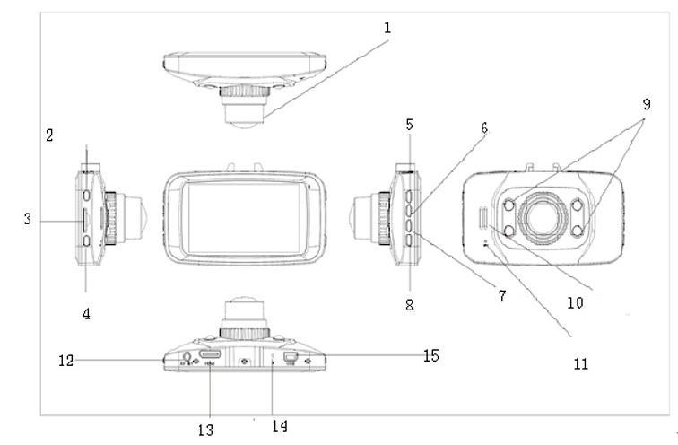 Gs8000l Dash Cam User Manual Hd 720p Car Camera Dvr Video