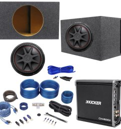 get quotations package kicker 43cvr154 15 dual voice coil 4 ohm car stereo subwoofer  [ 1500 x 1475 Pixel ]