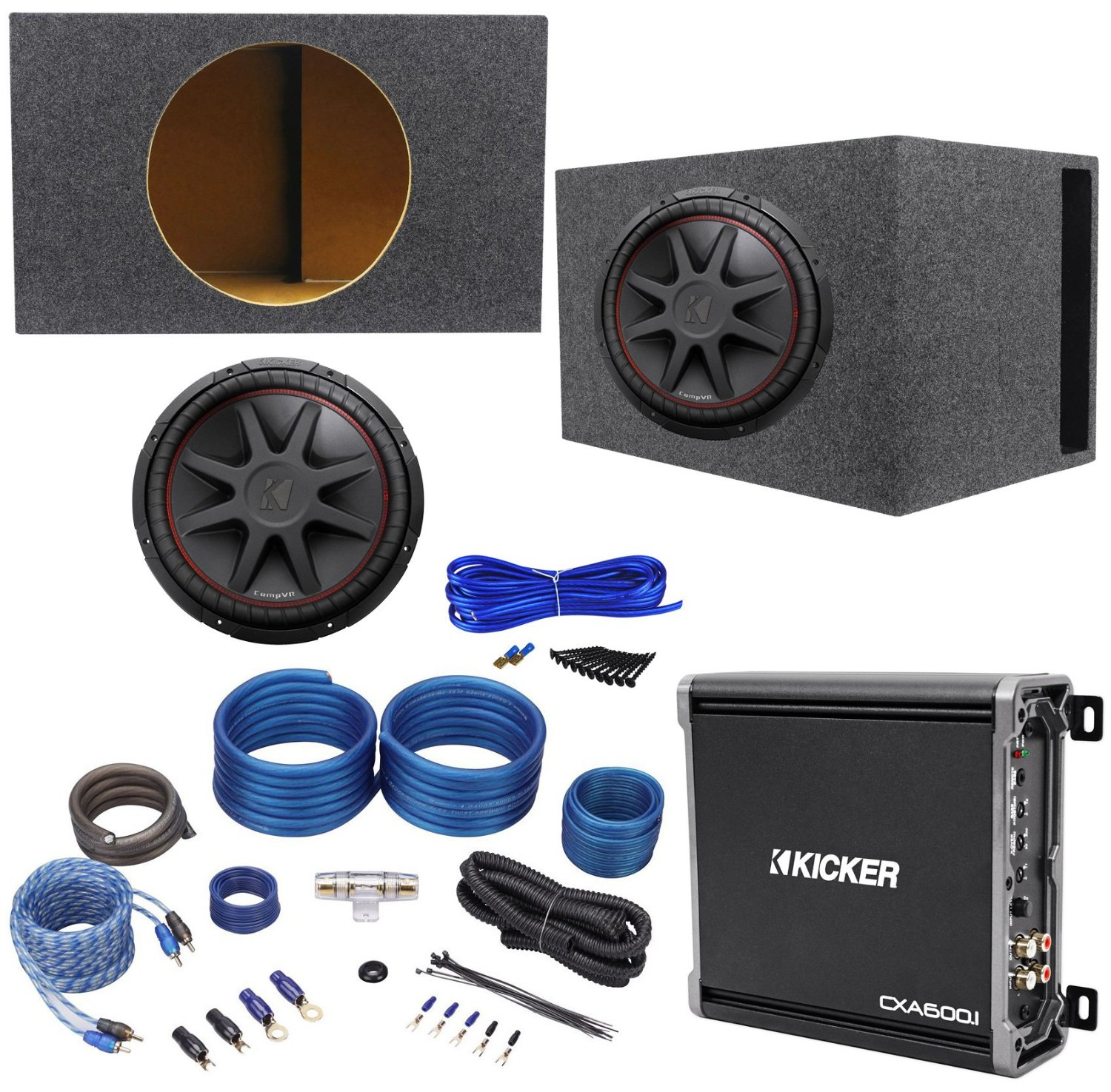 hight resolution of get quotations package kicker 43cvr154 15 dual voice coil 4 ohm car stereo subwoofer