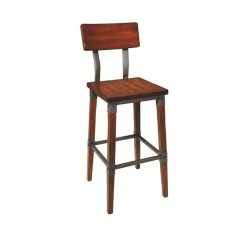 High Chair Restaurant Lazyboy Accessories Upholstered Wood And Metal Bar Stool Buy