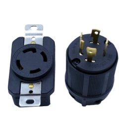get quotations flypig generator rv ac plug socket l14 30 30 amp 120v 220v male  [ 1000 x 1000 Pixel ]