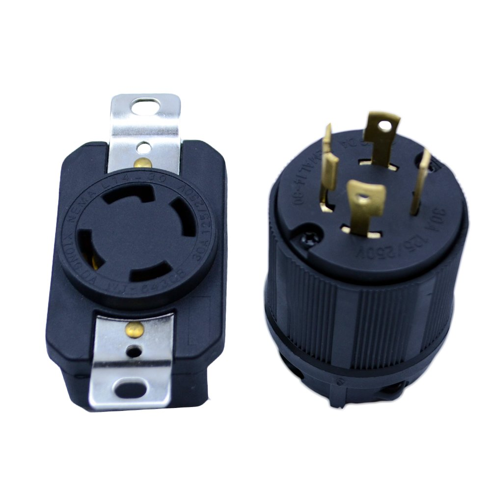 medium resolution of get quotations flypig generator rv ac plug socket l14 30 30 amp 120v 220v male