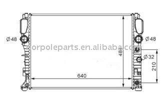 Automobile Radiator For Mercedes Benz W211/e200/e240/e320