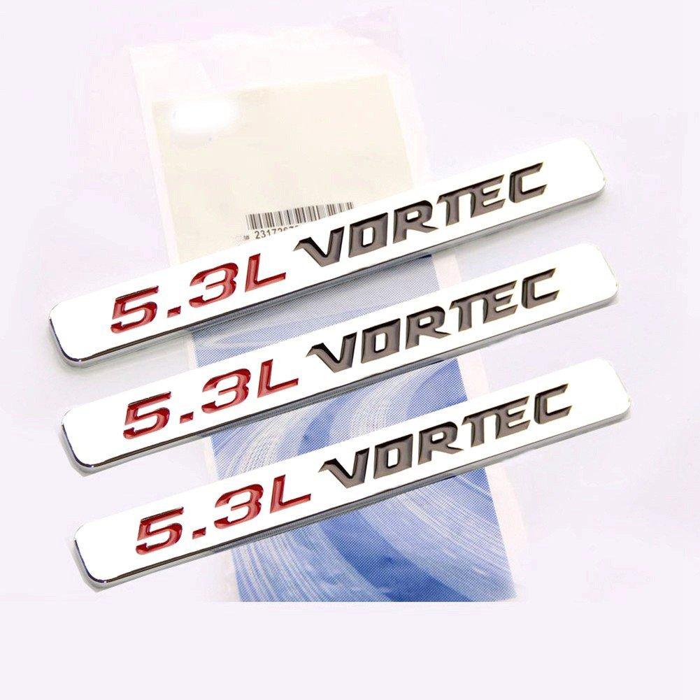 hight resolution of get quotations yoaoo 3pcs oem 5 3l vortec hood emblems engine badge 3d silverado z71 gm sierra