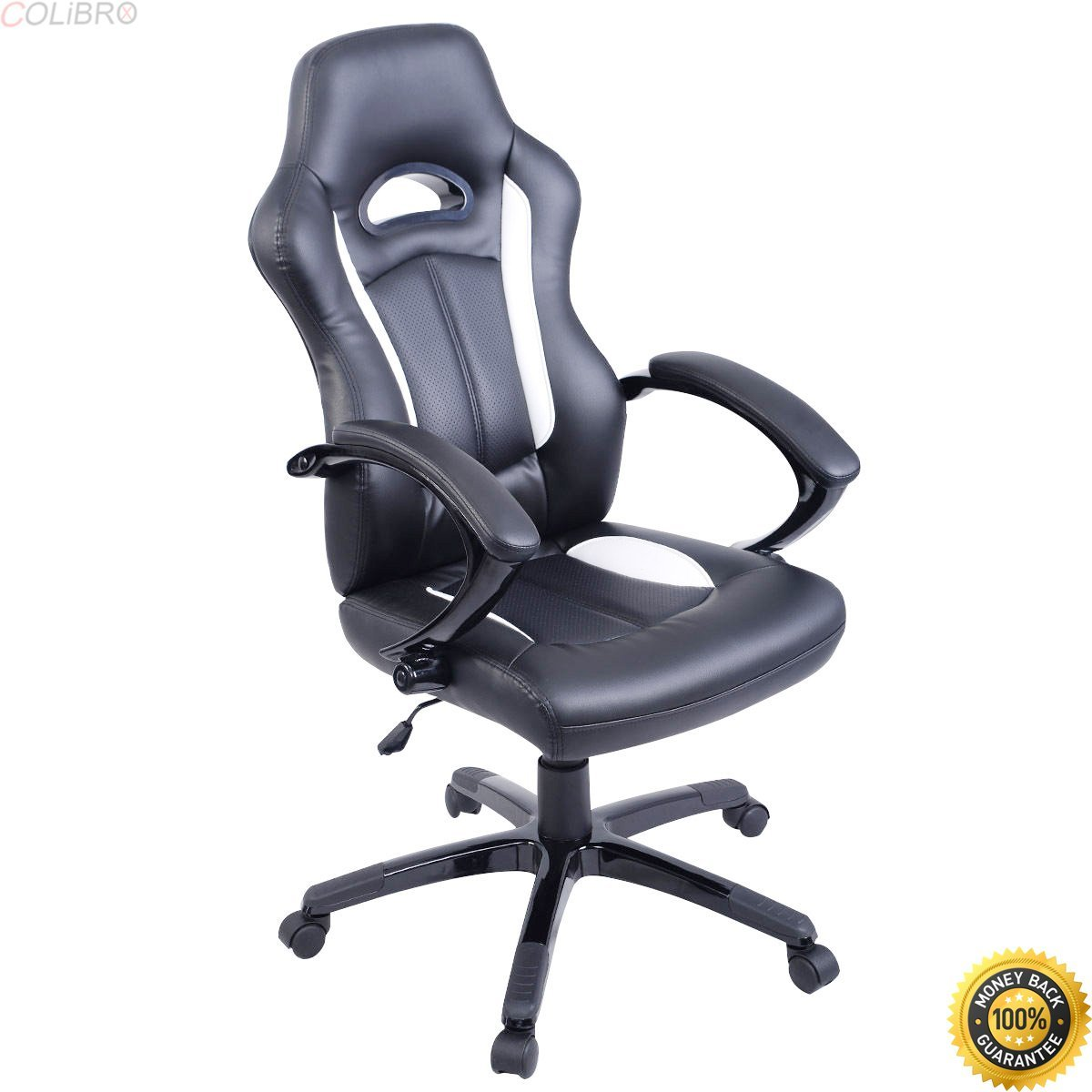 desk chair tesco swivel arm covers cheap gaming chairs find deals on line at get quotations colibrox high back race car style bucket seat office new