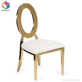 steel chair gold modern baby high wholesale plating stainless round back wedding chairs