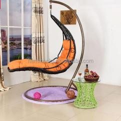 Indoor Hanging Egg Chair With Stand Black Plastic Rail Cheap Price Outdoor Garden Rattan Wicker Swing Basket ...