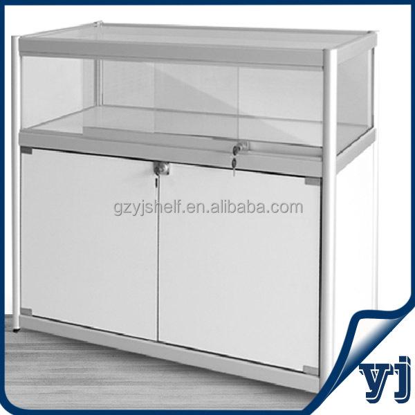presentoir de comptoir en verre alliage d aluminium 10 pieces avec lumiere sur le dessus presentoir a affichage led en verre trempe buy counter