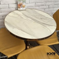 White Round Coffee Table/ Quartz Stone Dining Table Top ...