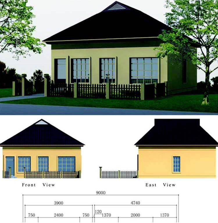 Ecofriendly 2 Bedroom Prefabricated Modular Houses Modern