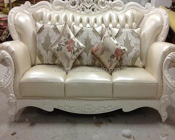 custom living room furniture set for sale sofa luxury classical wood frame genuine leather sofas