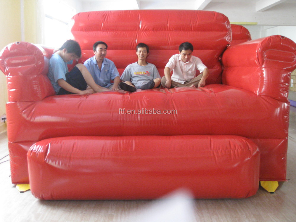 cheap hand chair chairs for tweens hot sale high quality used strong 4 seat red giant inflatale sofa/cheap large inflatable sofa ...