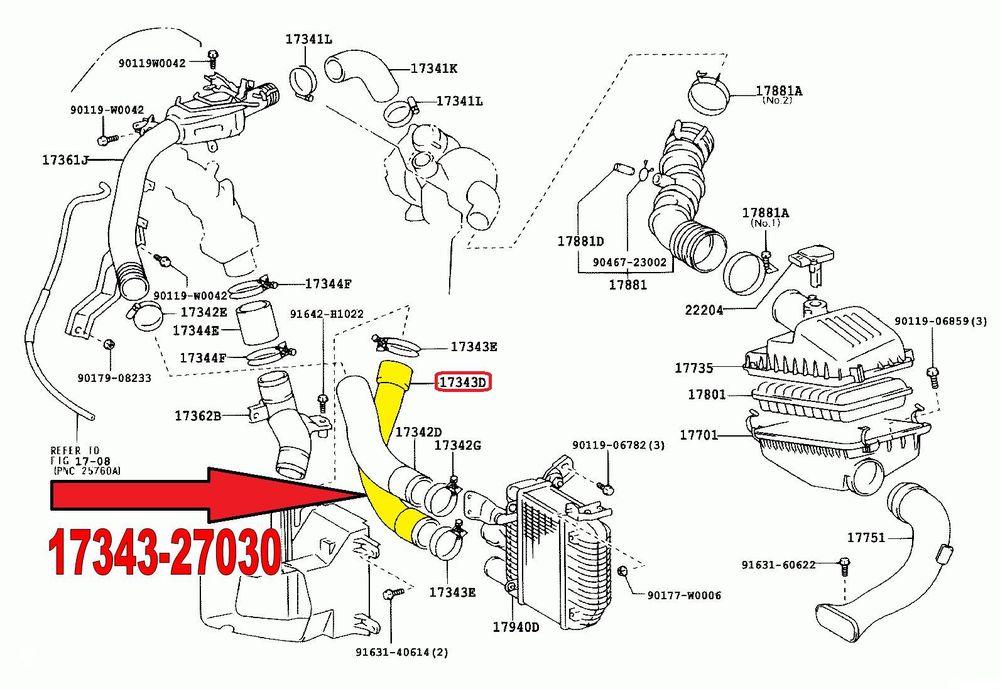 Aftermarket Hose Toyota Avensis T25 2.0 D4d Hose Tube Pipe