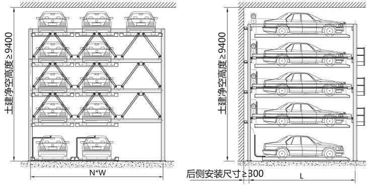Psh Puzzle Automatic Multi-level Car Storage Car Parking