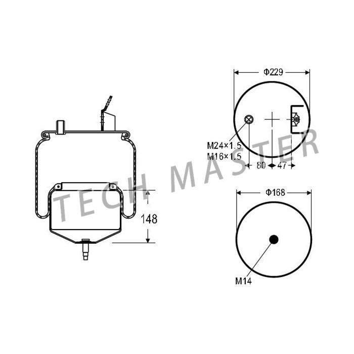 Auto Suspension Parts Air Spring Bag For Volvo 1076418