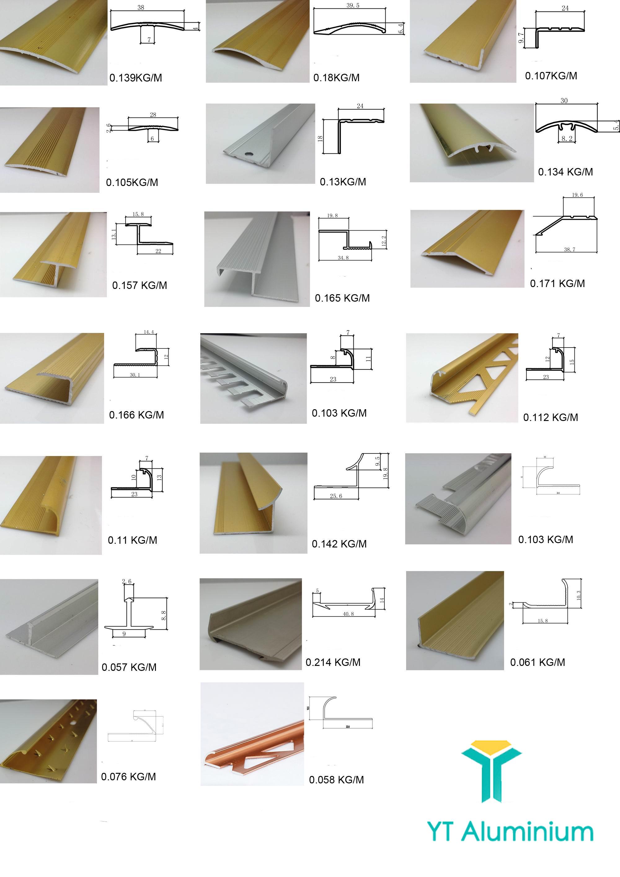 yutian aluminum tile end trim pieces wide tile finishing trim malaysia quadrant corner edge wall tile trim profile view tile edge trim yutian