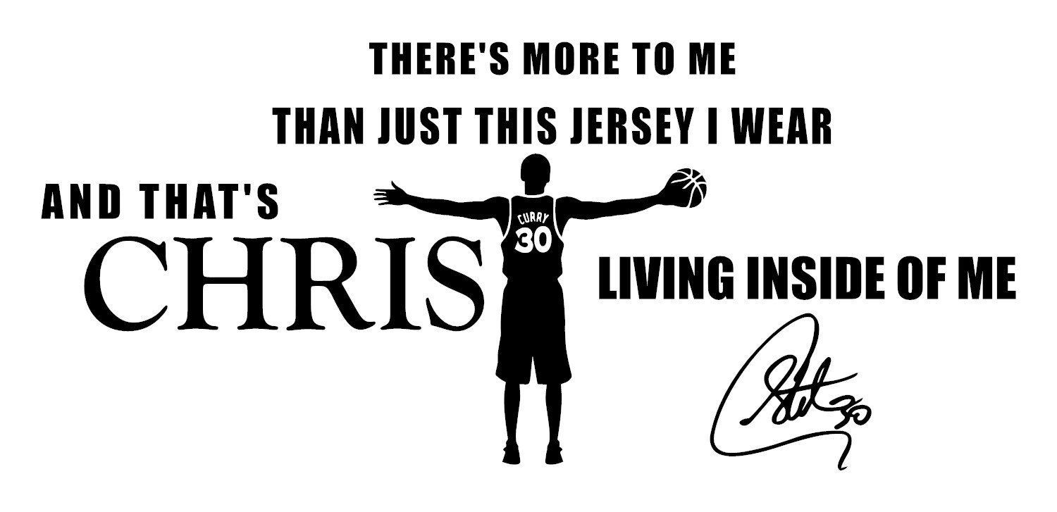 Buy Stephen Curry Quote Wall Decals/Basketball Wall Decals