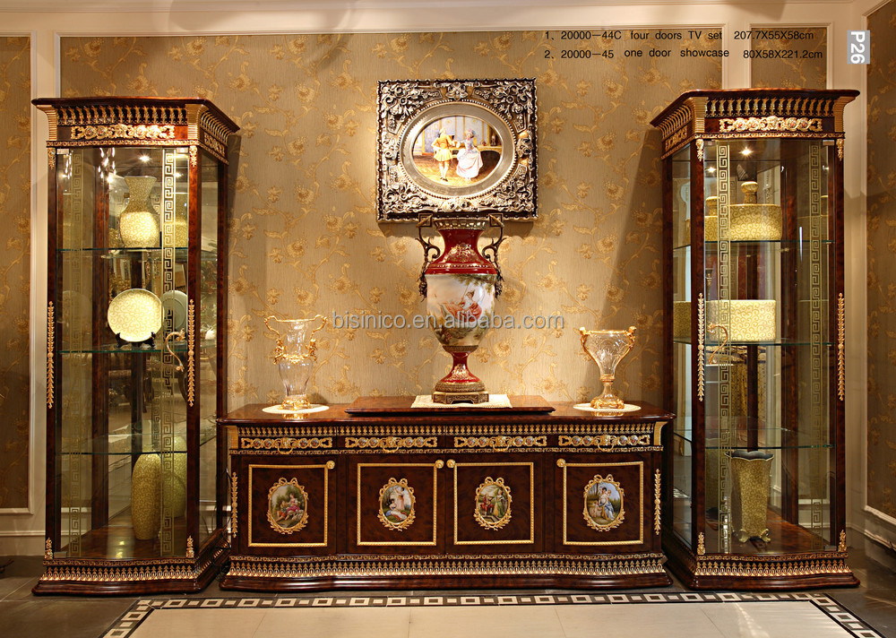 Luxury French Baroque Style Mahogany Single Door Display