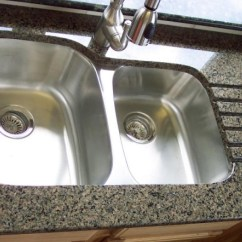 Buy Undermount Kitchen Sink Chicago Faucets Double Bowl In Granite Countertop
