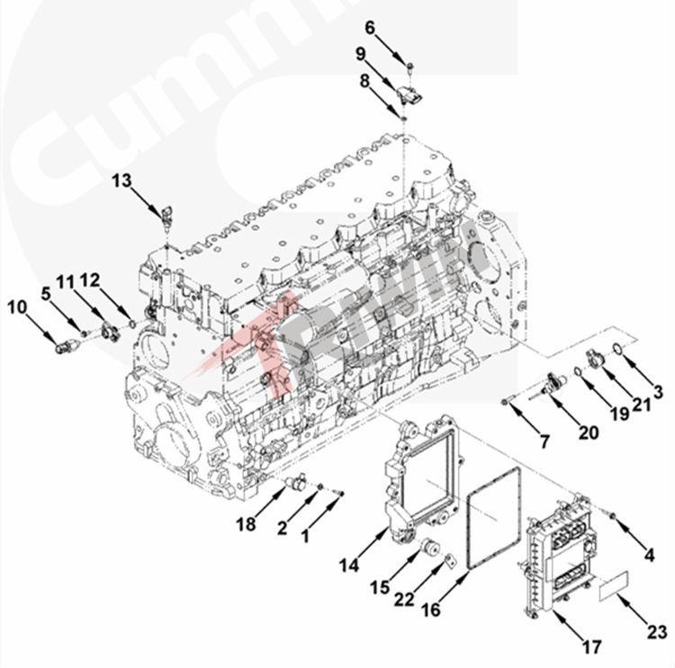 Ism Qsm Diesel Engine Ecm Electronic Control Unit 3408501