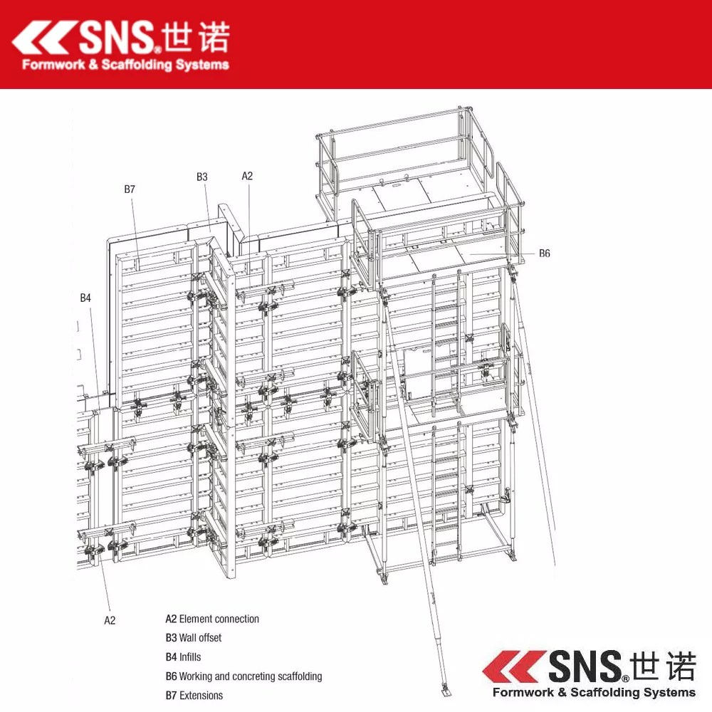 hight resolution of plastic formwork for column concrete