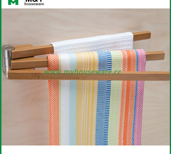 kitchen towel racks square sink bamboo swing arm rack buy wooden