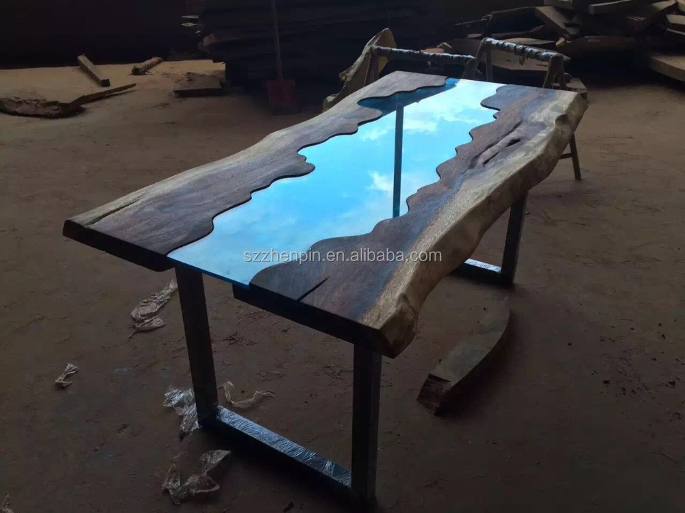 Live Edge Glass Inlay Solid Wood Slab Dining Table Glass Inlay Furniture Buy Live Edge Slab