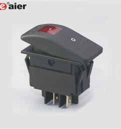 12v led ip67 daystar boat marine rocker switch [ 1000 x 1000 Pixel ]
