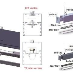 Led Light Strip Wiring Diagram Cub Cadet Lt1045 Deck Supply Tube Office Lighting,led Pendant Lighting Fluorescent Lights - Buy ...