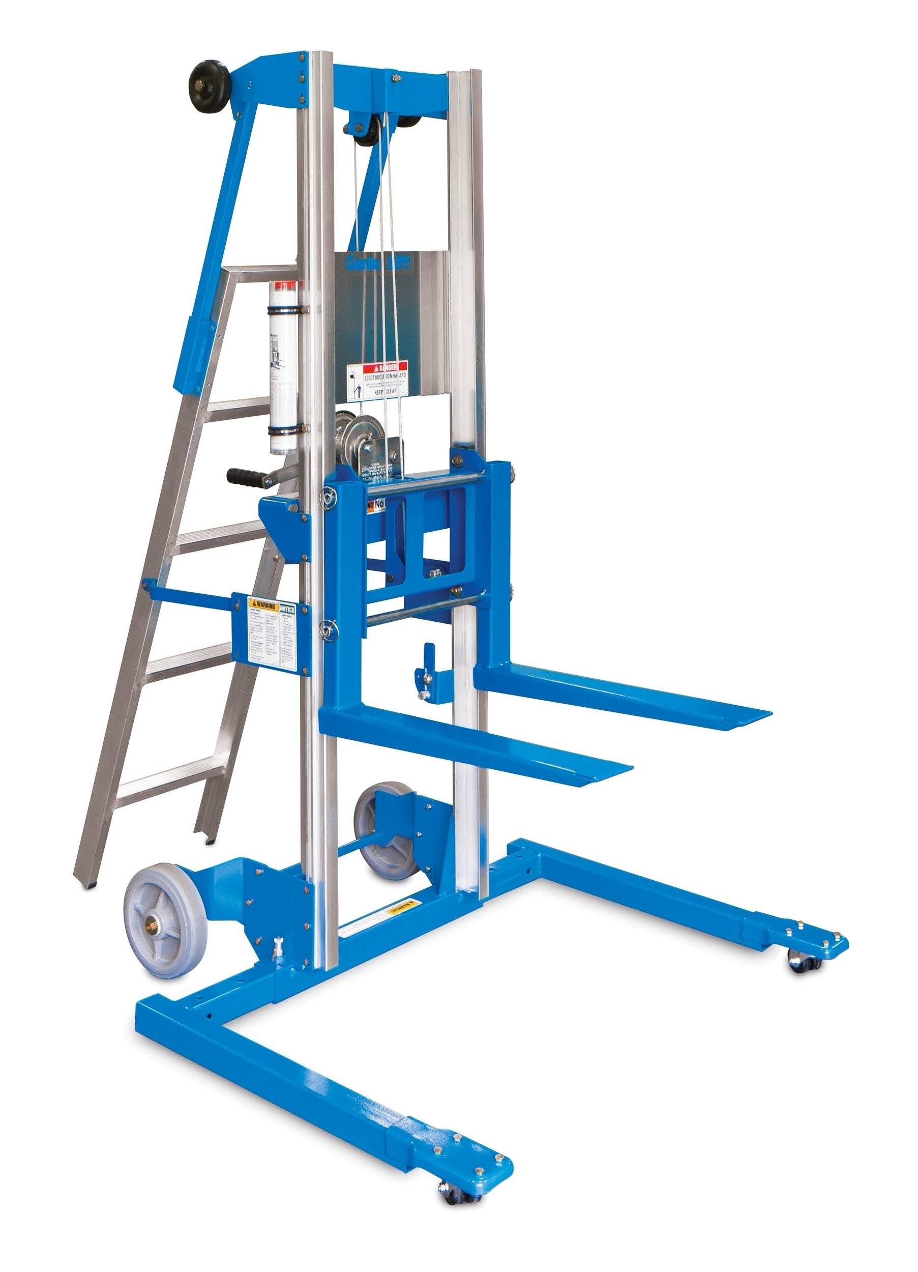 hight resolution of get quotations genie lift gl 10 straddle base with ladder heavy duty aluminum