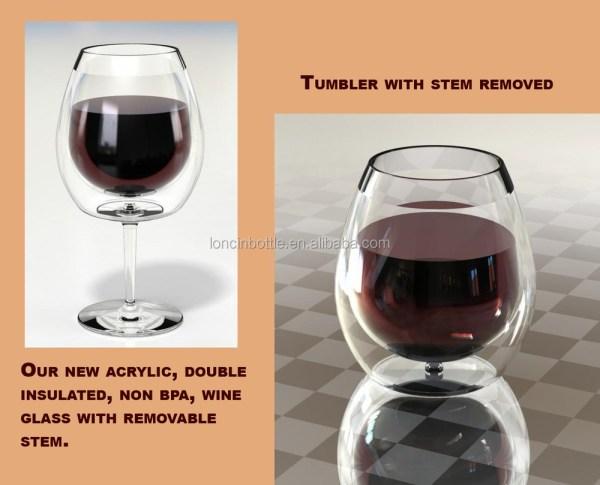 Plastic Stemless Wine Glass