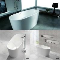 Acrylic Pedestal Small Freestanding Bathtub/round Tub ...