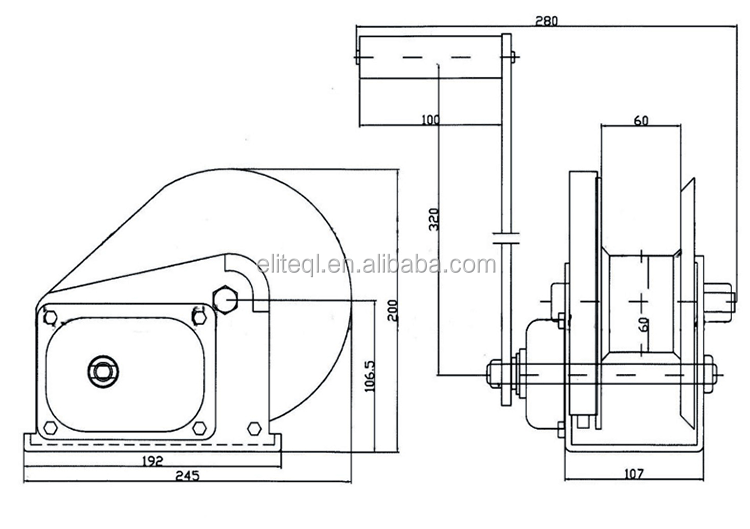 1800lbs Steel Small Manual Hand Winch With High Quality