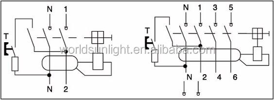 Xid 415v 4p 40a 30ma Earth Leakage Circuit Breaker Elcb