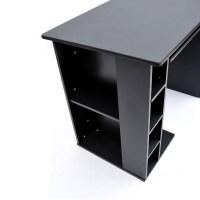 Beautiful Gaming Computer Desk With Cd Rack Sleek Drawers ...