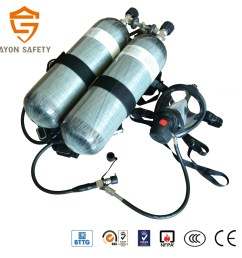 scott drager ce approved scba fire fighting breathing apparatus set with double carbon fiber cylinder [ 1417 x 1417 Pixel ]