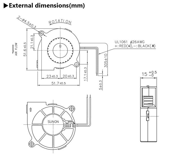 Standard Sunon Maglev 5015 Micro 50mm Mini 50x50 Small